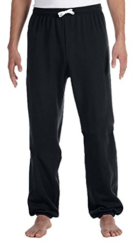 bella-3737-unisex-poly-cotton-fleece-long-scrunch-pant-black-medium