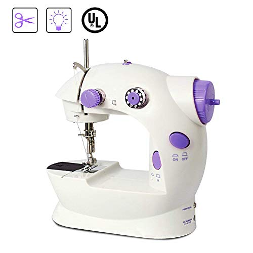 (Mini Sewing Machine,Eonsix Portable Sewing Machine Handheld for Kids Easy to use for Family Double Speed with Light and Wire)