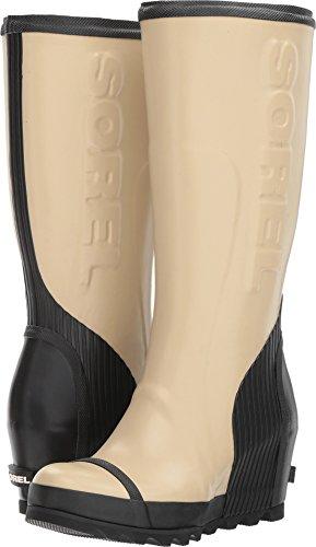 Sorel Womens Joan Tall Rain Wedge Boots Beach / Black