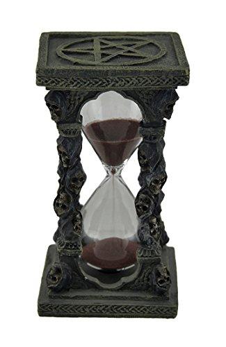 Grim Reaper Skulls and Pentagrams Hourglass Sand Timer