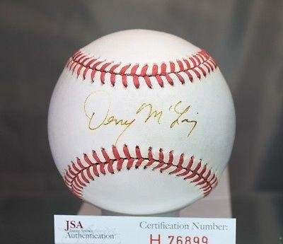 Denny McLain Signed Baseball - American League - JSA Certified
