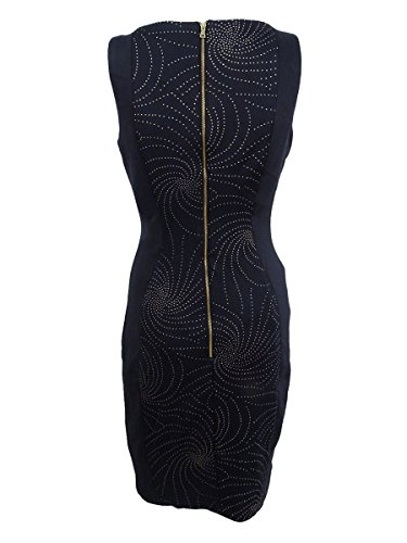Noir Robe Fourreau-garniture Métallique Des Femmes Jax