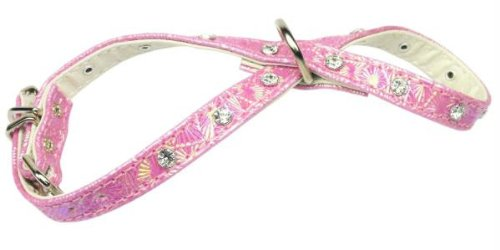 Dog Supplies Twinkle Ferret Harness Pink Harness W/ Clear Stones