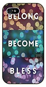 For Apple Iphone 5C Case Cover Bible Verse - Belong, become, bless - black plastic case / Verses, Inspirational and Motivational