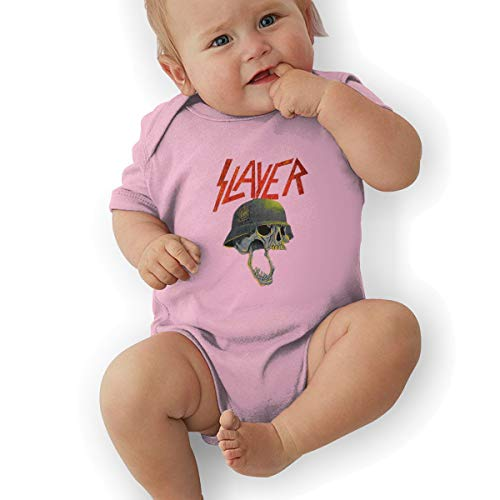 Short Sleeve Bodysuit, Slayer Band Baby Girls' Cotton Bodysuit Baby Clothes Pink