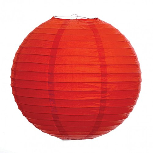 Koyal-8-Inch-Paper-Lantern-Red