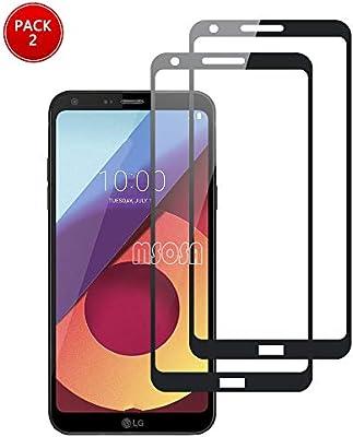 MSOSA para LG Q6 Protector de Pantalla, [2 Pack] Cristal Templado ...