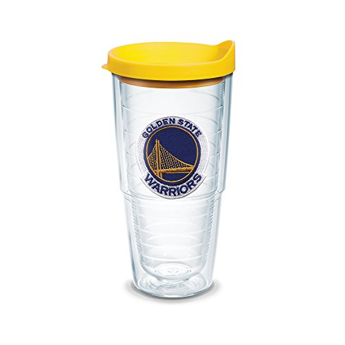Nba Travel Mug - Tervis 1051629 NBA Golden State Warriors Primary Logo Tumbler with Emblem and Yellow Lid 24oz, Clear