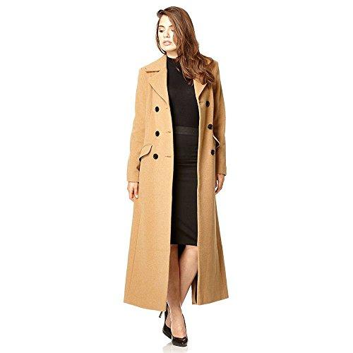De La Creme Women's Wool Blend Double Breasted Winter Coat Camel