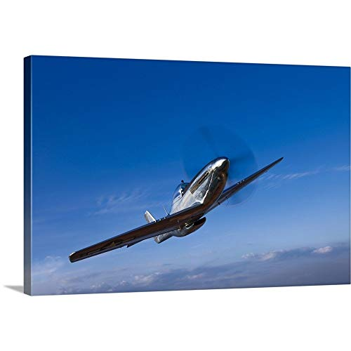 GREATBIGCANVAS Gallery-Wrapped Canvas Entitled A North American P-51D Mustang in Flight Near Chino, California by Scott Germain 48