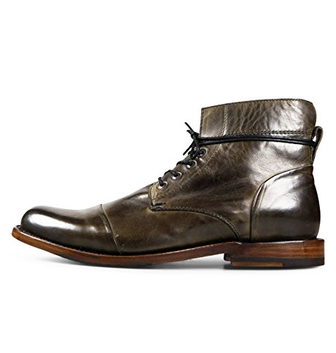 Men's Leather Chukka Lace Up Boots Handcrafted, Hand Stitched With Goodyear Welted Sole - Alder Dark Grey - Alder Footwear