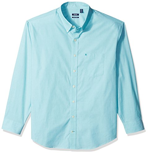 (IZOD Men's Performance Natural Stretch Solid Long Sleeve Shirt (Big & Tall and Tall)