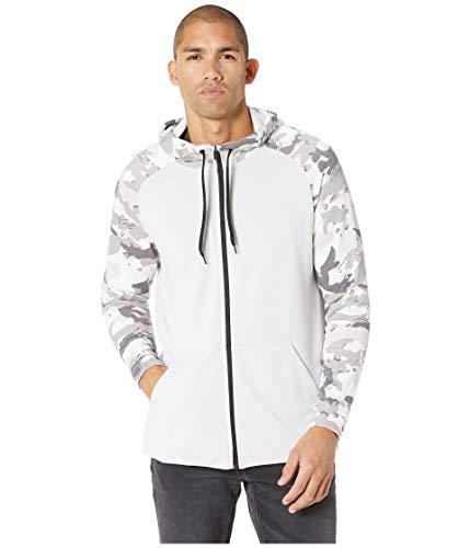 (Nike Mens Full Zip Camo Dryfit Fleece Hoodie Vast Grey/White/Camo AQ1138-092 Size 2X-Large )