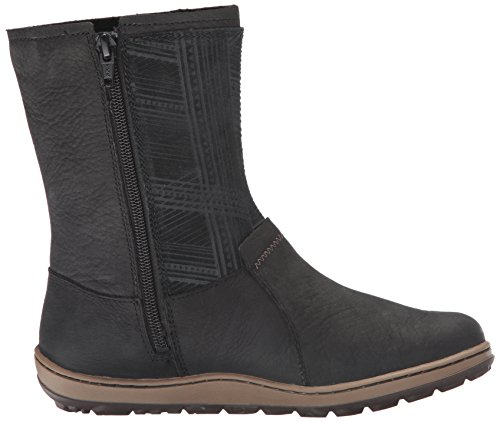 Merrell Ashland Vee Mid Waterproof Black Womens Boot Negro