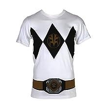 Power Rangers White Ranger with Belt Costume T-Shirt