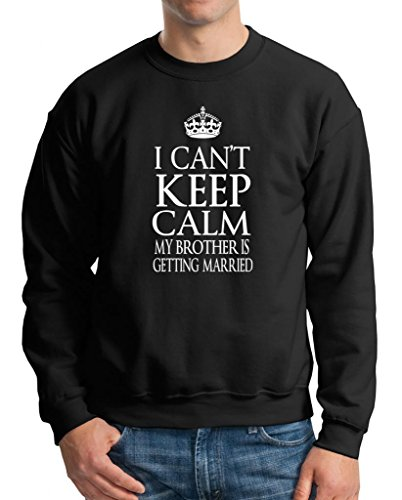 My brother is getting married sweater Sweatshirt engagement wedding sweater XXX-Large Black by Milky Way Tshirts