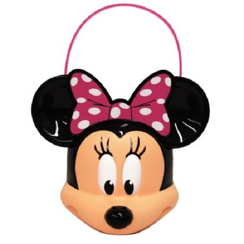 (Minnie Mouse - Figural Plastic Pail - Children Candy, Halloween Trick or Treat Pail)