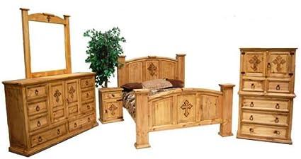 Rustic Mansion Cross Bedroom Set , King