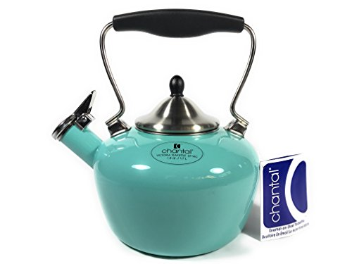 - Chantal Enamel on Steel Teakettle, 1.7 quart / 1.6 liter (Victoria 37- VIC (Aqua))