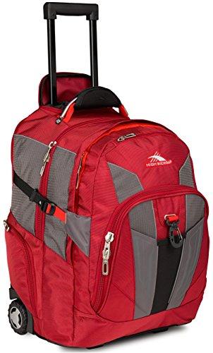 High Sierra XBT Laptop Wheeled Backpack, Carmine/Red Line/Black