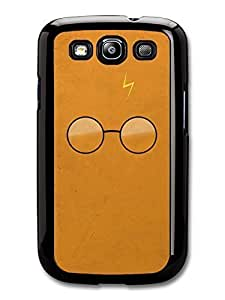 AMAF ? Accessories Harry Potter Movie Minimalist Illustration with Glasses and Lightning case for Samsung Galaxy S3