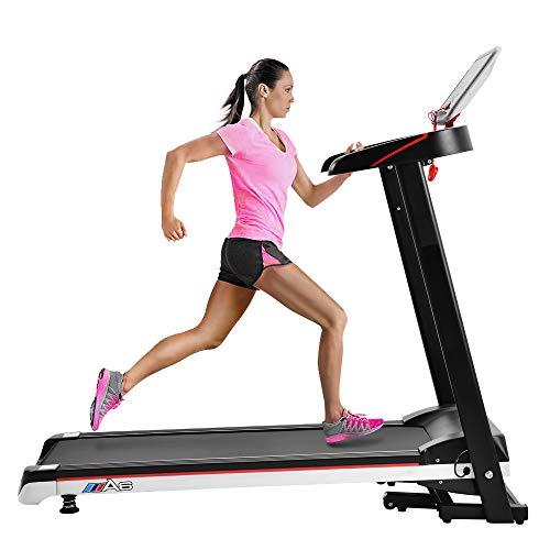 Merax Electric Treadmill Folding Treadmill for Small Place Power Motorized Running Machine Running Walking Jogging Treadmill