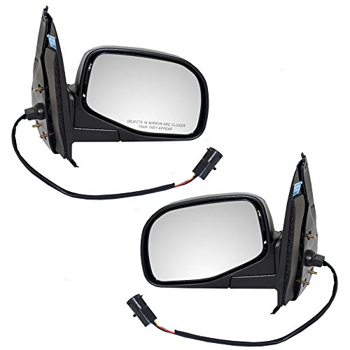Driver and Passenger Power Side View Mirrors with Puddle Lamp Replacement for Ford Mercury SUV F87Z17683AAB F87Z17682AAA AutoAndArt