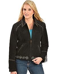 Women's Studded Fringe Jacket - L224 86