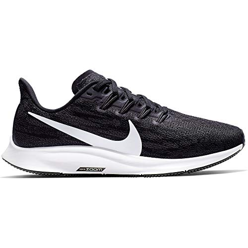 Nike Air Zoom Pegasus 36 Women's Running Shoe Black/White-Thunder Grey Size 8.0