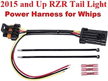 Amazon.com: Muzzys Tail Light Whip Power Harness Adapter Splice Pigtail  Jumper FITS: 2015-2020 Polaris RZR 900/1000, XP 1000,XP Turbo for Powering  LED Whips Brake Lights License Plate Lights or Any 12v Accessory:Amazon.com