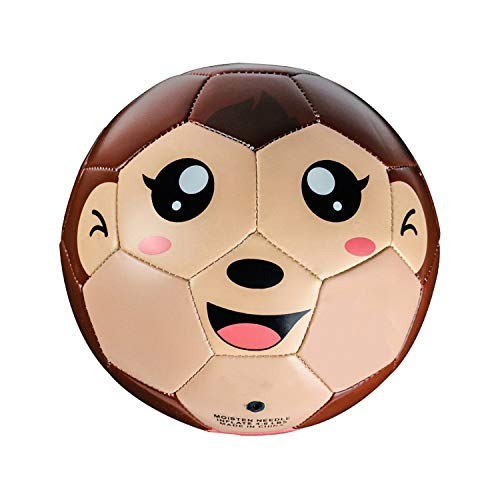 YANYODO Toddler Soccer Ball 6 Inch Cartoon TPU Soccer Toys Sport Balls for Toddler Baby Indoor Outdoor Play