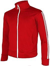 Men's Running Jogging Track Suit Warm up Jacket Gym Training Wear