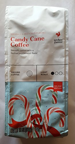 Archer Farms CANDY CANE Flavored Ground Coffee (1 Bag, 12 Oz.) LIMITED -