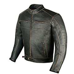Made of premium 1.2 mm hand buffed Cowhide Leather. Double stitched.  Removable non allergic Polyester quilted liner for fall riding. Vintage Design with timeless look. Ventilation zippers on Front and Back. Waist adjustment.  Pre-curved slee...