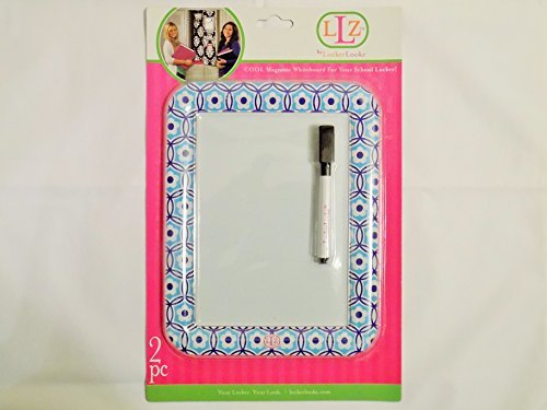Flower Erase Dry Board (Magnetic Dry Erase Whiteboard School Locker (aqua flower))