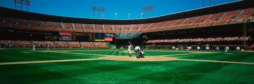 Walls 360 Peel & Stick Baseball Stadium Wall Mural Candlestick Park San Francisco CA (48 in x 16 in)