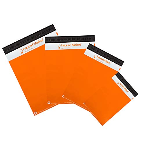 Inspired Mailers - Orange Poly Mailers Variety Pack - 40 Pack (8.5x12, 10x13, 12.5x15.5, 14.5x19 Sizes)]()