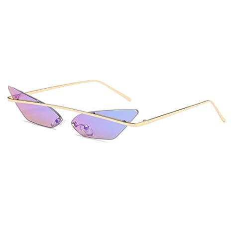 AtR Gafas de Sol Fashion Cat s Eye Metal Color Gafas Ocean ...