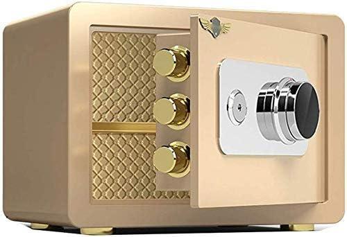 BZM-ZM ゴールド小、ホテルミニスチール安全ストレージボックス、家庭用セーフティボックス、機械コードロック、S/L(サイズ:L)(カラー: - )