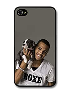 diy case Chris Brown Holding Puppy Portrait case for iPhone 5 5s