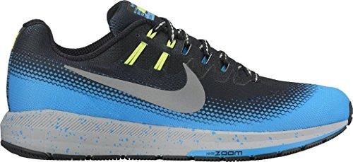 0547577999ac Galleon - Nike Mens Air Zoom Structure 20 Shield BLACK METALLIC SILVER-BLUE  GLOW-VOLT 12.0