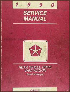 1990 Dodge Ram Van & Wagon Repair Shop Manual Original B100-B350 -