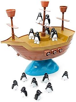 Lopbinte Lindo PingüIno Barco Pirata InteraccióN Familiar Juego de Escritorio para Ni?Os Regalo Juguetes Educativos para Ni?Os: Amazon.es: Juguetes y juegos