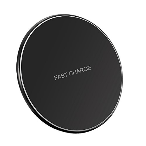 Pictek Wireless Charger Charging Pad for iPhone X, iPhone 8 / 8 Plus and Other Devices, Wireless  Fast Charging for Galaxy S8/ S8+/ S7 / S7 edge / S6 edge+, and Note 5 ( AC Adapter Not Included )