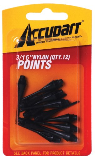Accudart Card 3/16-Inch Nylon Points - 60 (Accudart Replacement Tips)