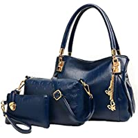 three-piece new winter womens handBag leather handBag Shoulder Messenger Bag