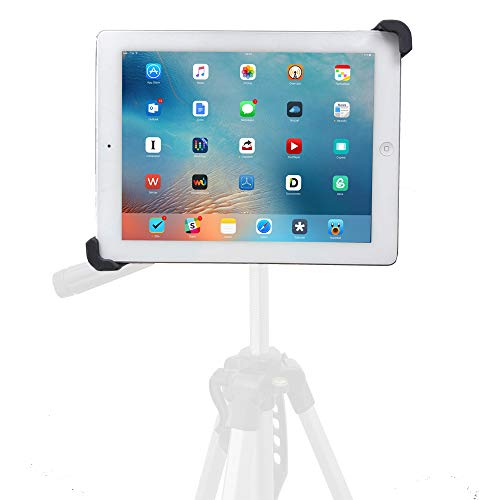 (iShot G10 Pro Universal iPad Tablet Tripod Monopod Mount Adapter Holder - Compatible with and Adjustable for iPad and All 7