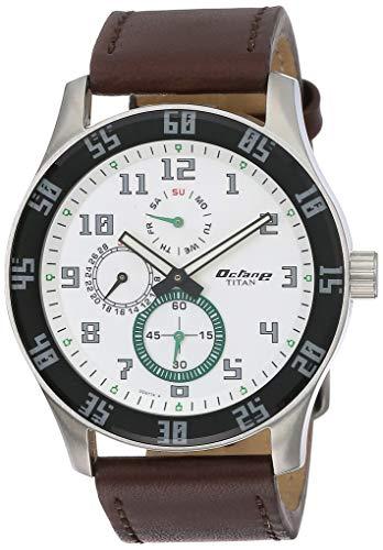 Titan Octane Analog White Dial Men's Watch  NM1632SL01 / NL1632SL01