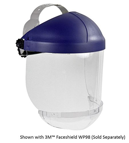 3M Ratchet Headgear, Head and Face Protection 82521-10000, with 3M Clear Chin Protector (Adjustable Ratchet Headgear)