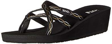 Teva Women's Mush Mandalyn Wedge Ola 2 Sandal, Knot Metallic, 6 M US